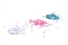 Ombre rotte colorate isolate su bianco   Fotografia Stock