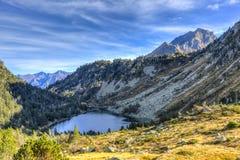 Ombre sopra il lago Fotografia Stock