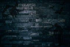 Ombre spaventose di Halloween delle streghe e dei pipistrelli su un fondo scuro del muro di mattoni royalty illustrazione gratis