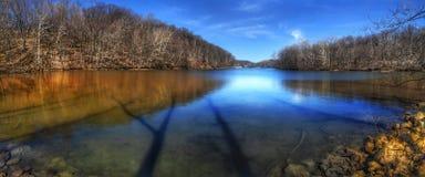 Ombre su The Creek Fotografia Stock Libera da Diritti
