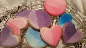 Ombre Sugar Cookies Stockfotos