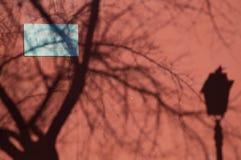 Ombre sulla parete Fotografie Stock Libere da Diritti