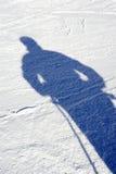 Ombre sur la neige Image libre de droits