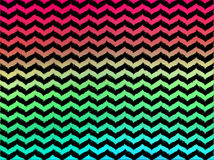 Ombre Wavy Chevrons on Black Background Stock Photos