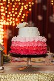 Ombre wedding cake Stock Photos
