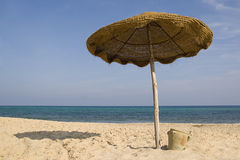 Ombrella della spiaggia Immagini Stock Libere da Diritti