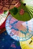 Ombrelli asiatici Fotografie Stock