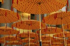 Ombrelli Brunei di parata fotografie stock