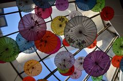 Ombrelli cinesi Immagine Stock