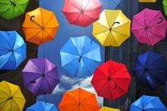 Ombrelli colorati Immagini Stock