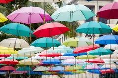 Ombrelli Colourful fotografia stock libera da diritti