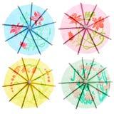 Ombrelli di carta della bevanda Fotografie Stock Libere da Diritti