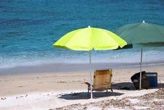 Ombrelli di spiaggia Immagini Stock Libere da Diritti