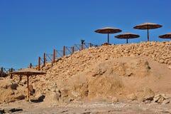ombrelli di spiaggia Immagine Stock