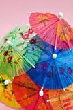 Ombrelli festivi della bevanda Fotografia Stock