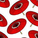 Ombrelli giapponesi rossi royalty illustrazione gratis