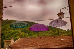 Ombrelli in Italia Immagini Stock