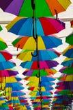 Ombrelli multipli Fotografia Stock