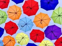 Ombrelli nel cielo Fotografia Stock Libera da Diritti