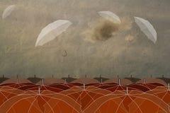 Ombrelli nel cielo Fotografia Stock