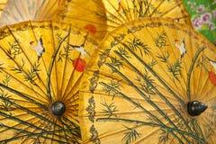 Ombrelli orientali fotografia stock