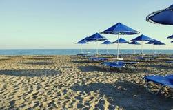 Ombrelli sulla spiaggia Immagine Stock Libera da Diritti