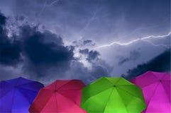 Ombrelli variopinti Fotografie Stock