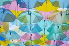Ombrelli variopinti Immagini Stock Libere da Diritti