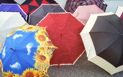 Ombrelli variopinti Immagine di colore Fotografia Stock Libera da Diritti