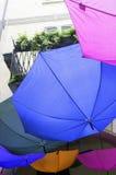 Ombrelli variopinti Immagine di colore Immagine Stock Libera da Diritti