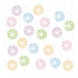 Ombrelli variopinti nella stagione delle pioggie Fotografia Stock