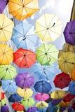 Ombrelli variopinti immagine stock