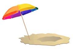 Ombrello alla spiaggia Fotografie Stock Libere da Diritti