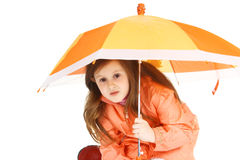 Ombrello arancione Immagine Stock