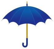 Ombrello blu illustrazione vettoriale