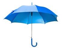 Ombrello blu Fotografia Stock