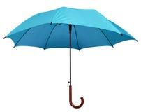 Ombrello - blu-chiaro isolato immagini stock