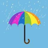 Ombrello di colore dell'arcobaleno Fotografia Stock Libera da Diritti