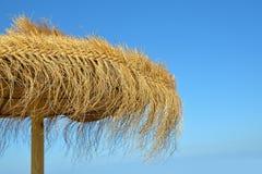 Ombrello di spiaggia naturale Fotografie Stock Libere da Diritti