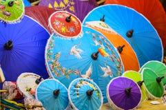 Ombrello fatto a mano Fotografia Stock