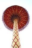 Ombrello a file rosso del kingship Fotografia Stock Libera da Diritti
