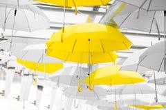 Ombrello giallo Immagine Stock