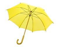 Ombrello giallo isolato Fotografia Stock Libera da Diritti