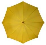 Ombrello giallo isolato Fotografia Stock