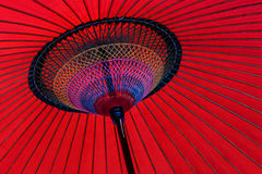 Ombrello giapponese rosso Immagini Stock