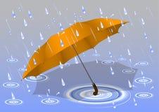 Ombrello nella pioggia Immagine Stock Libera da Diritti