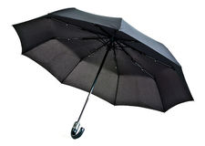 Ombrello nero Fotografie Stock