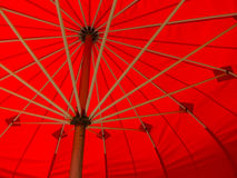 Ombrello rosso Fotografia Stock