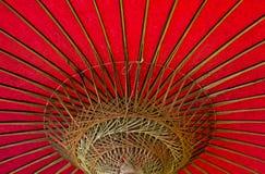 Ombrello rosso d'annata Fotografia Stock Libera da Diritti