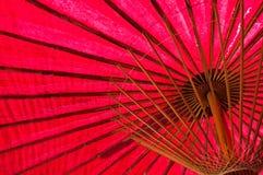 Ombrello rosso giapponese Fotografie Stock Libere da Diritti